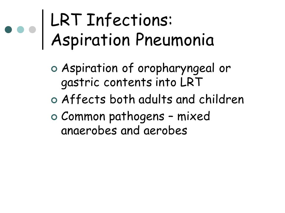 LRT Infections: Aspiration Pneumonia