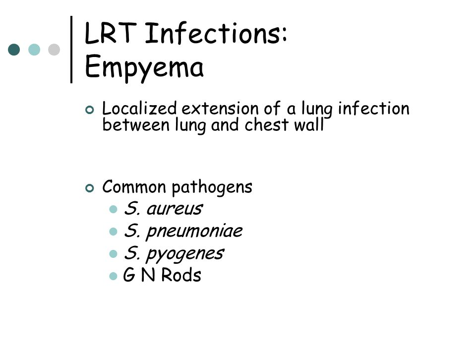 LRT Infections: Empyema