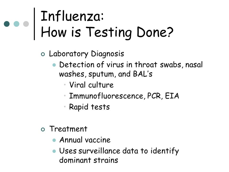 Influenza: How is Testing Done
