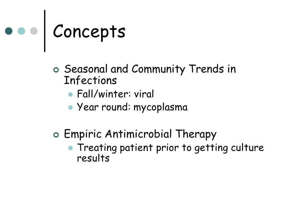 Concepts Seasonal and Community Trends in Infections