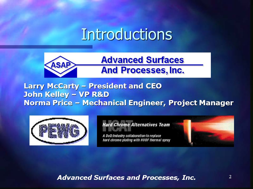 Advanced Surfaces and Processes, Inc.