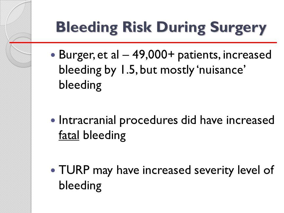 Bleeding Risk During Surgery
