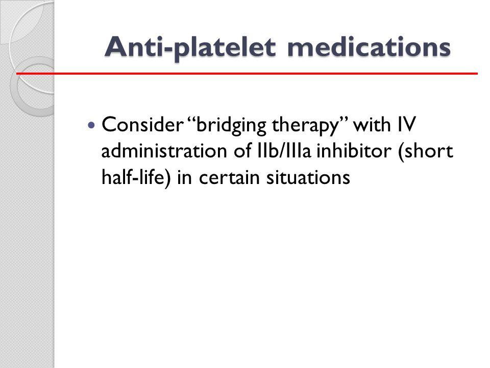 Anti-platelet medications