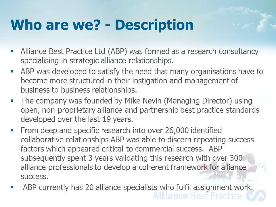 Who are we - Description