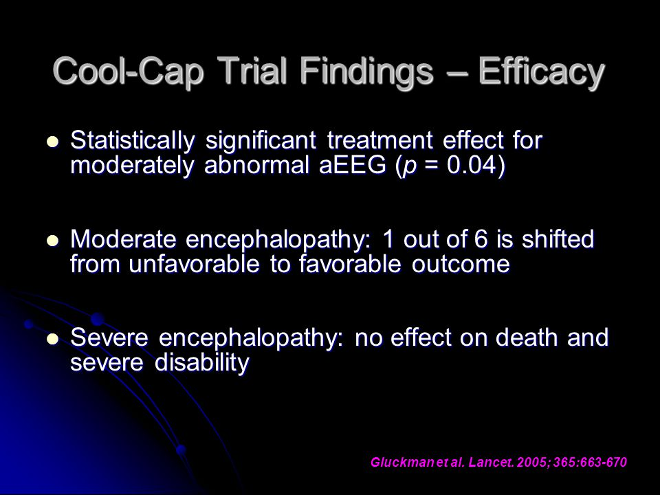 Cool-Cap Trial Findings – Efficacy