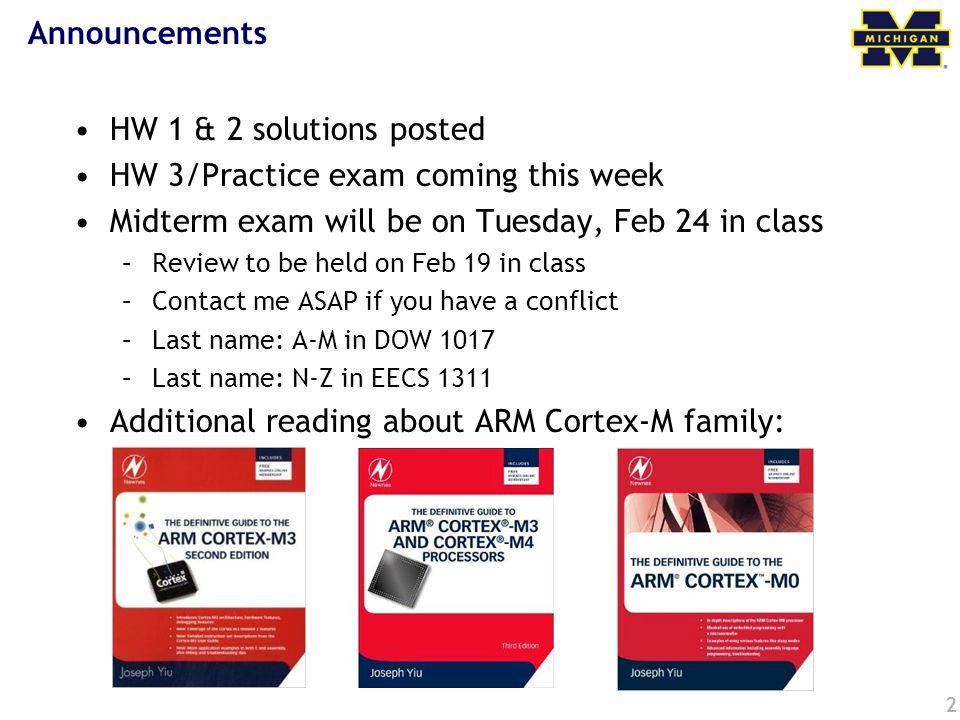 HW 3/Practice exam coming this week