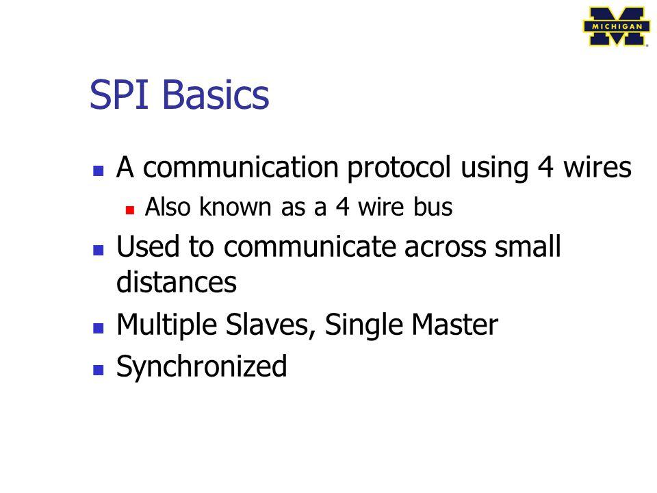 SPI Basics A communication protocol using 4 wires