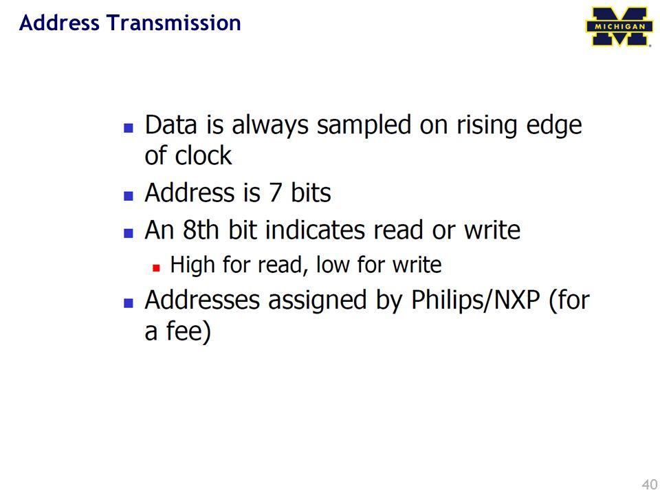 Address Transmission