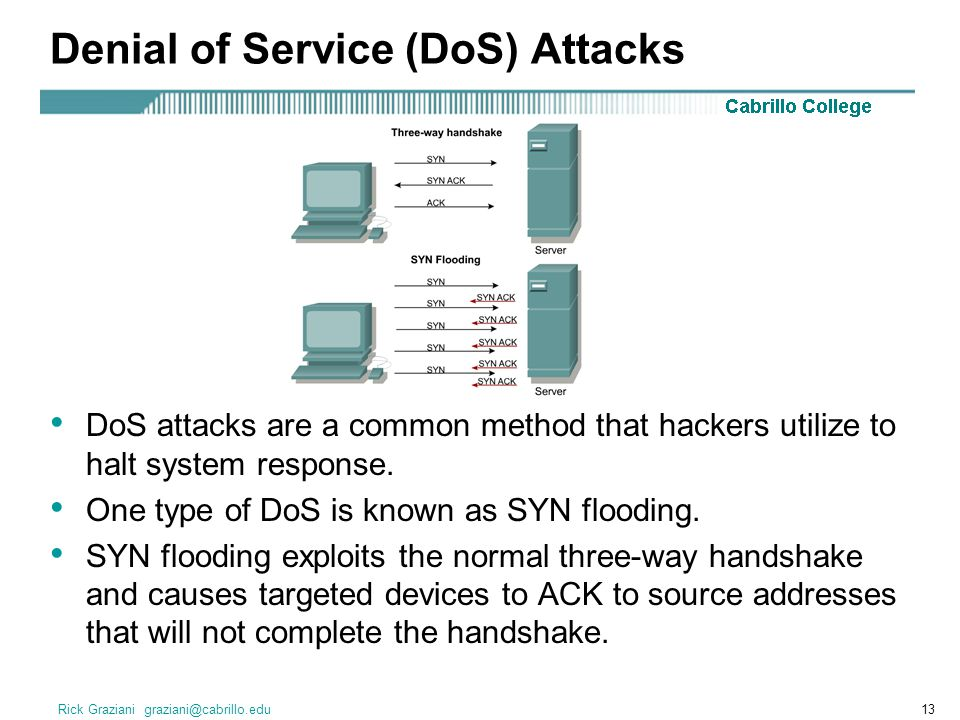 Denial of Service (DoS) Attacks