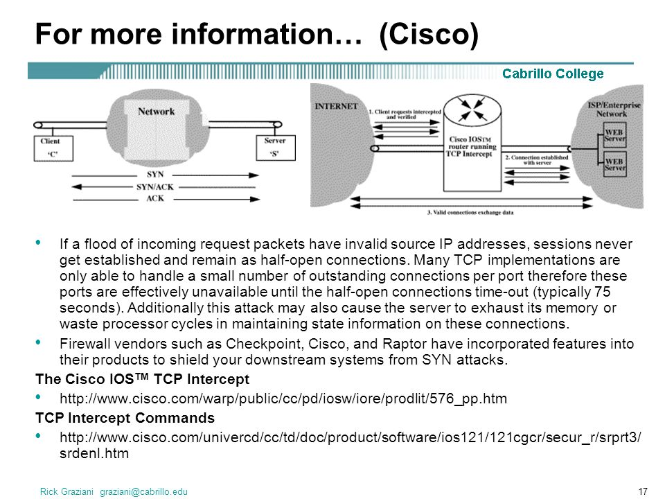 For more information… (Cisco)