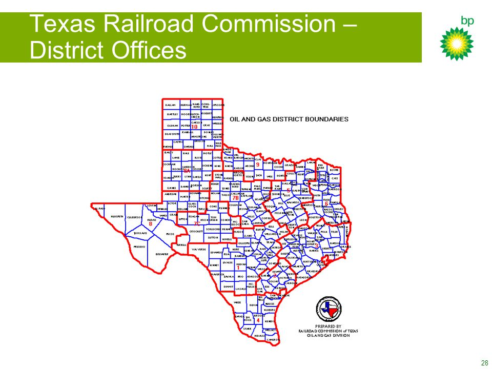 Texas Railroad Commission – District Offices
