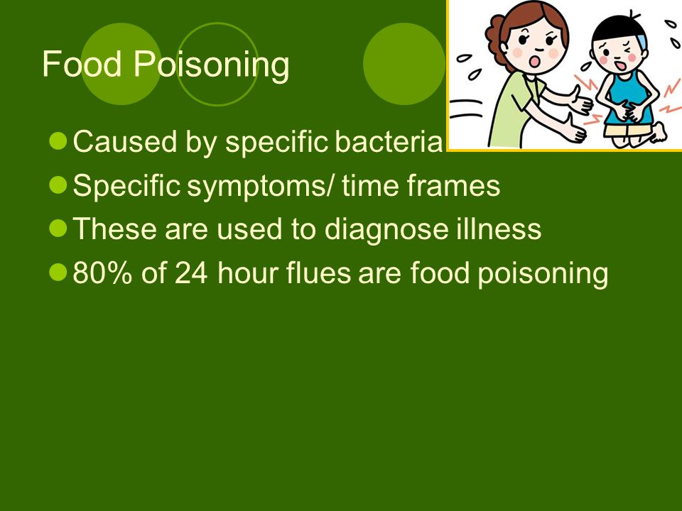 Food Poisoning Caused by specific bacteria
