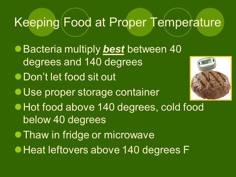 Keeping Food at Proper Temperature