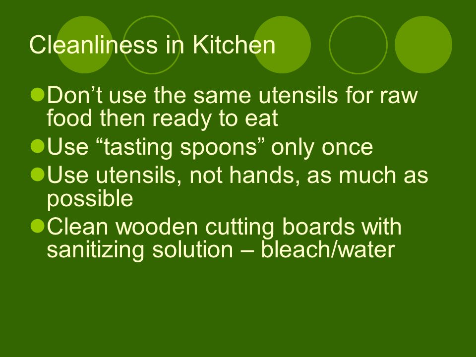 Cleanliness in Kitchen