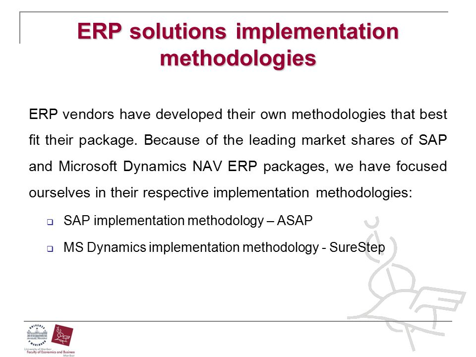 ERP solutions implementation methodologies