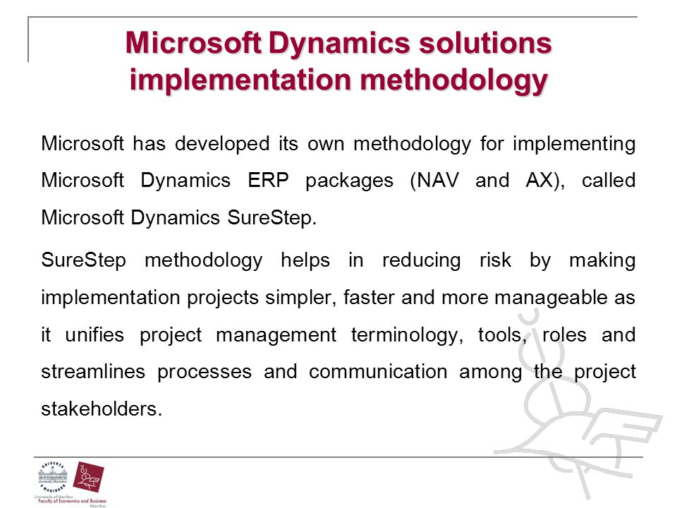 Microsoft Dynamics solutions implementation methodology