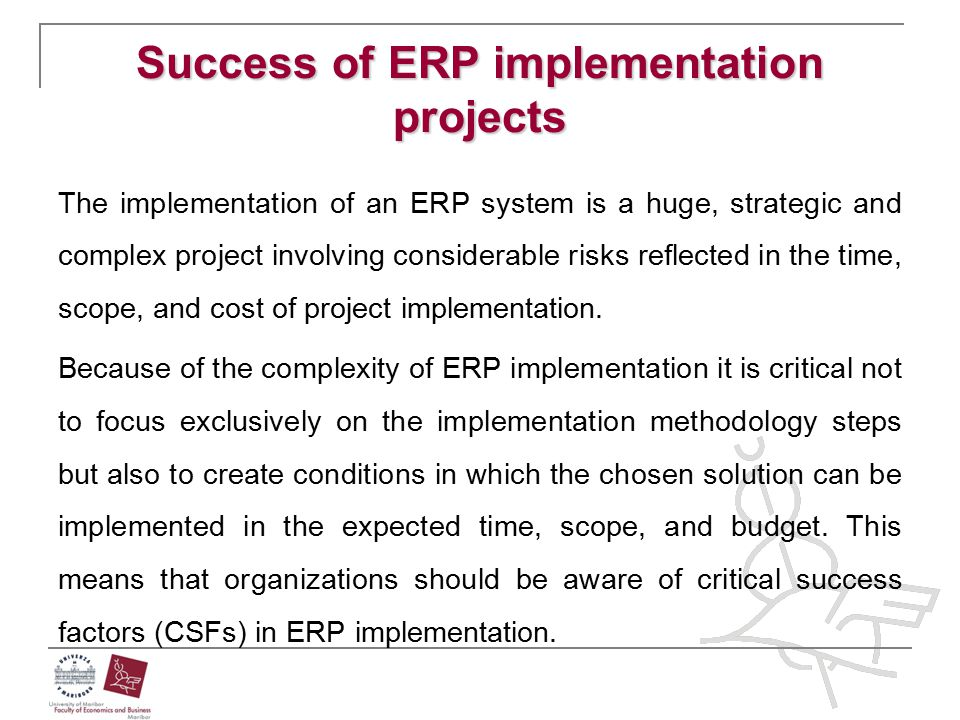 Success of ERP implementation projects
