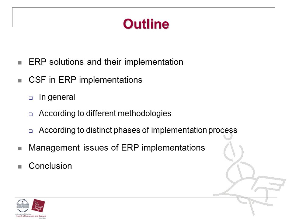 Outline ERP solutions and their implementation