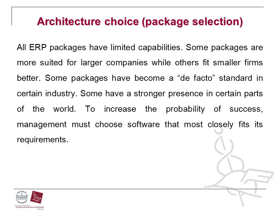 Architecture choice (package selection)