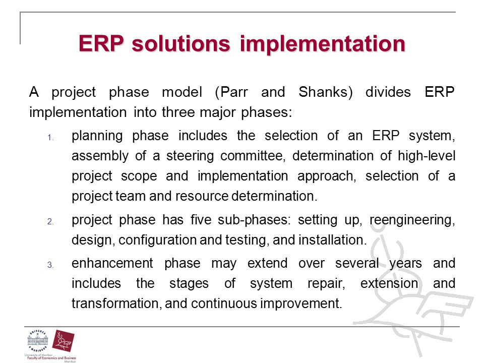 ERP solutions implementation