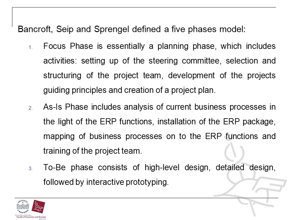Bancroft, Seip and Sprengel defined a five phases model: