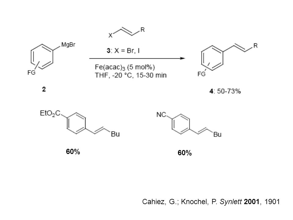 60% 60% Cahiez, G.; Knochel, P. Synlett 2001, 1901