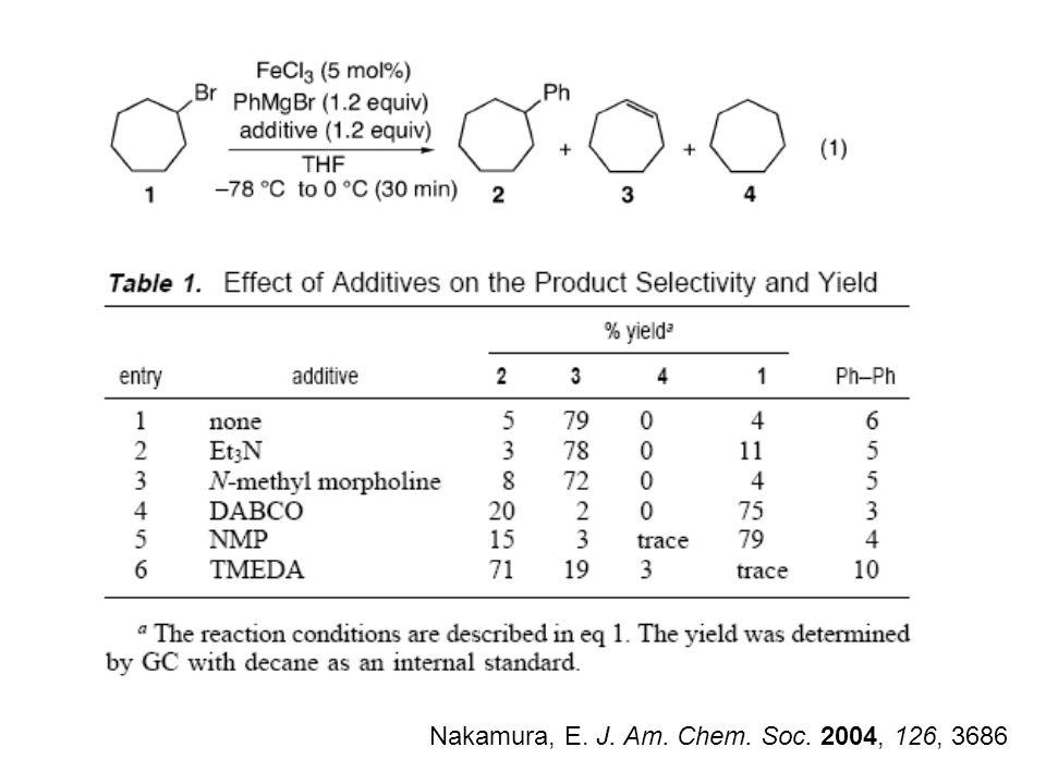 Nakamura, E. J. Am. Chem. Soc. 2004, 126, 3686
