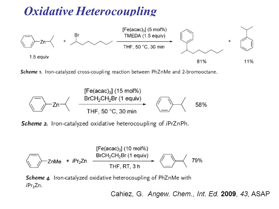 Oxidative Heterocoupling