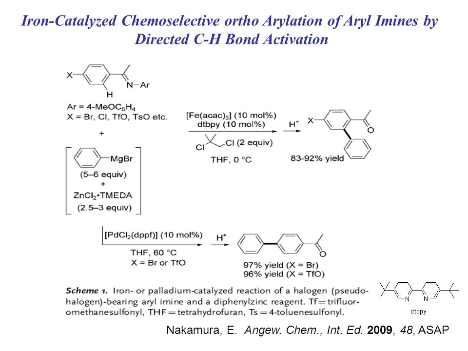 Iron-Catalyzed Chemoselective ortho Arylation of Aryl Imines by