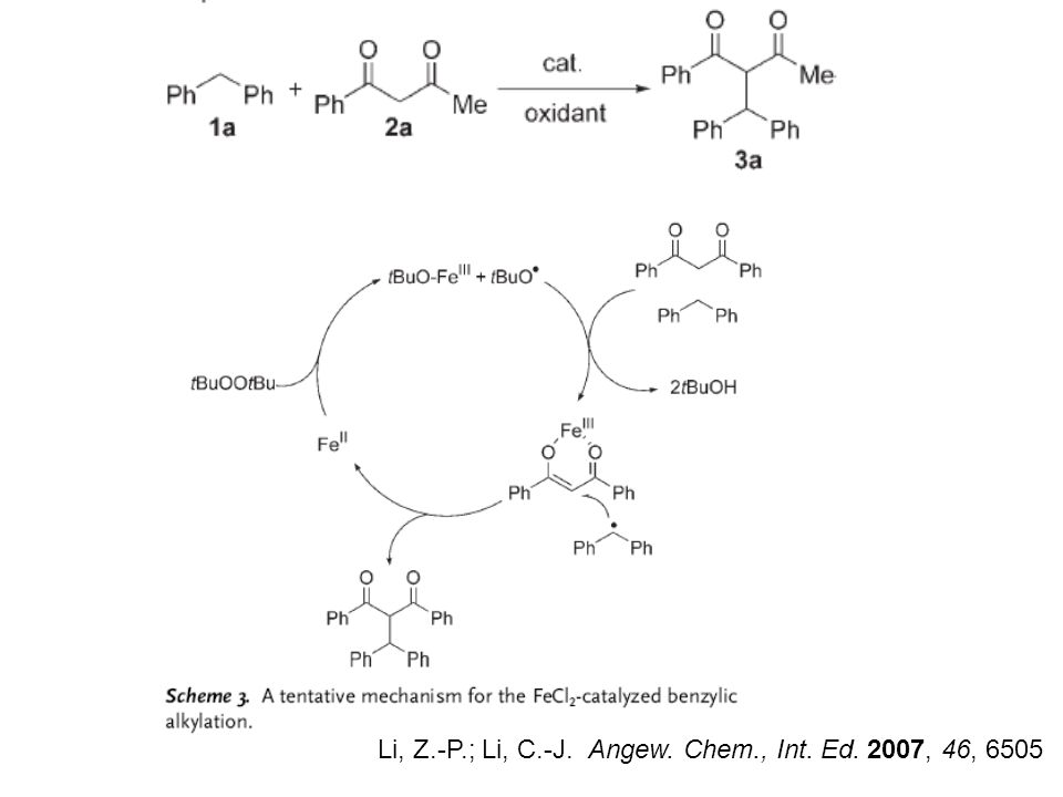 Li, Z.-P.; Li, C.-J. Angew. Chem., Int. Ed. 2007, 46, 6505