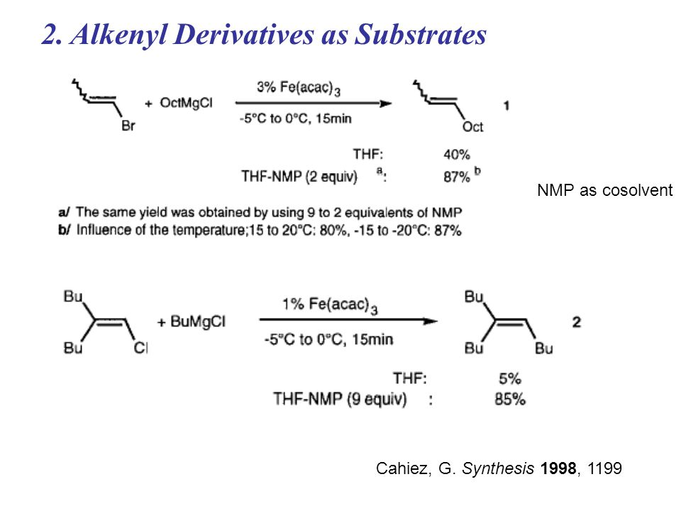2. Alkenyl Derivatives as Substrates