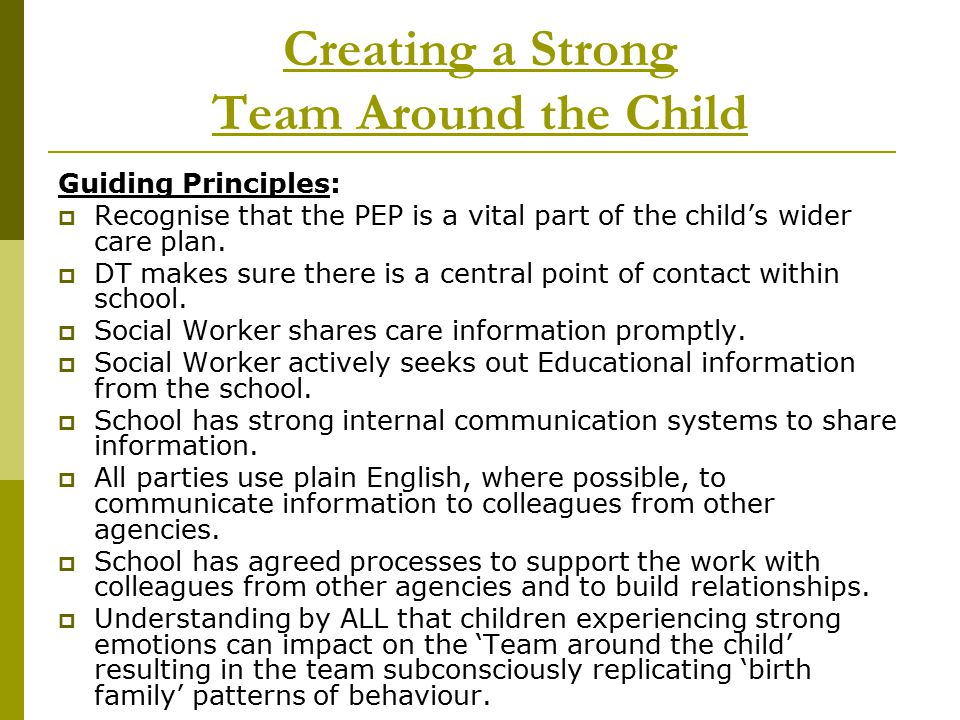 Creating a Strong Team Around the Child
