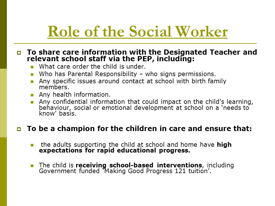 Joint Training For Social Workers And Designated Teachers  Ppt