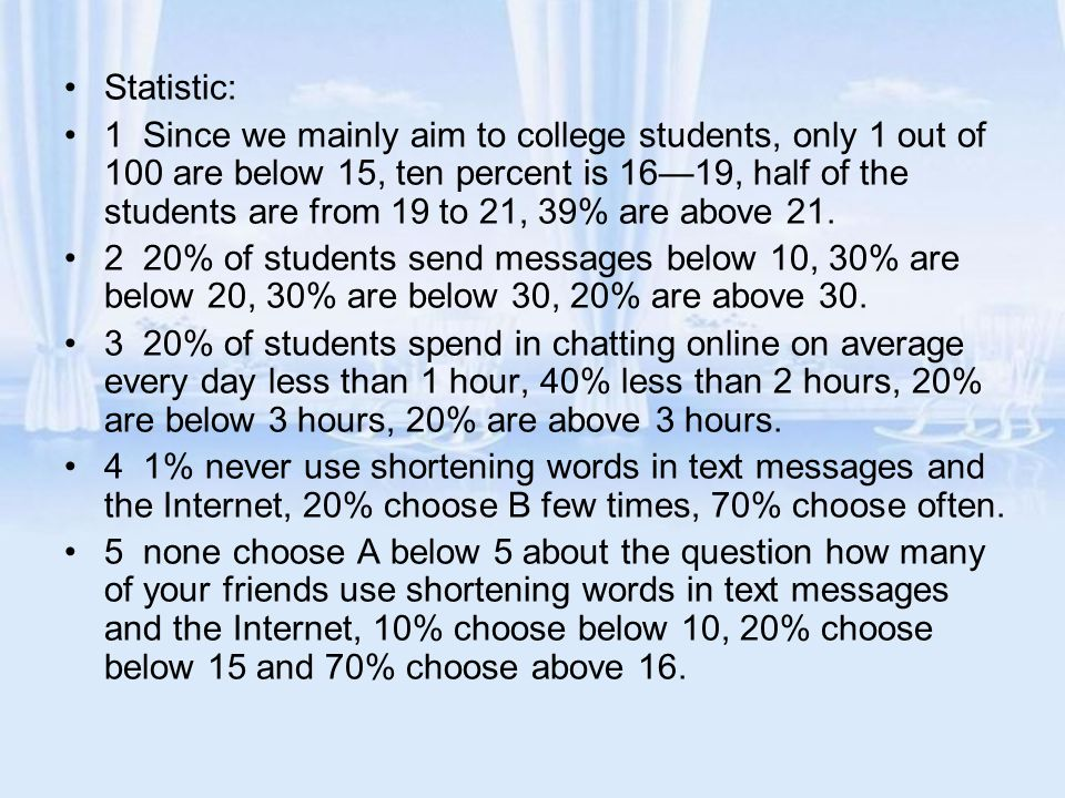 Statistic:
