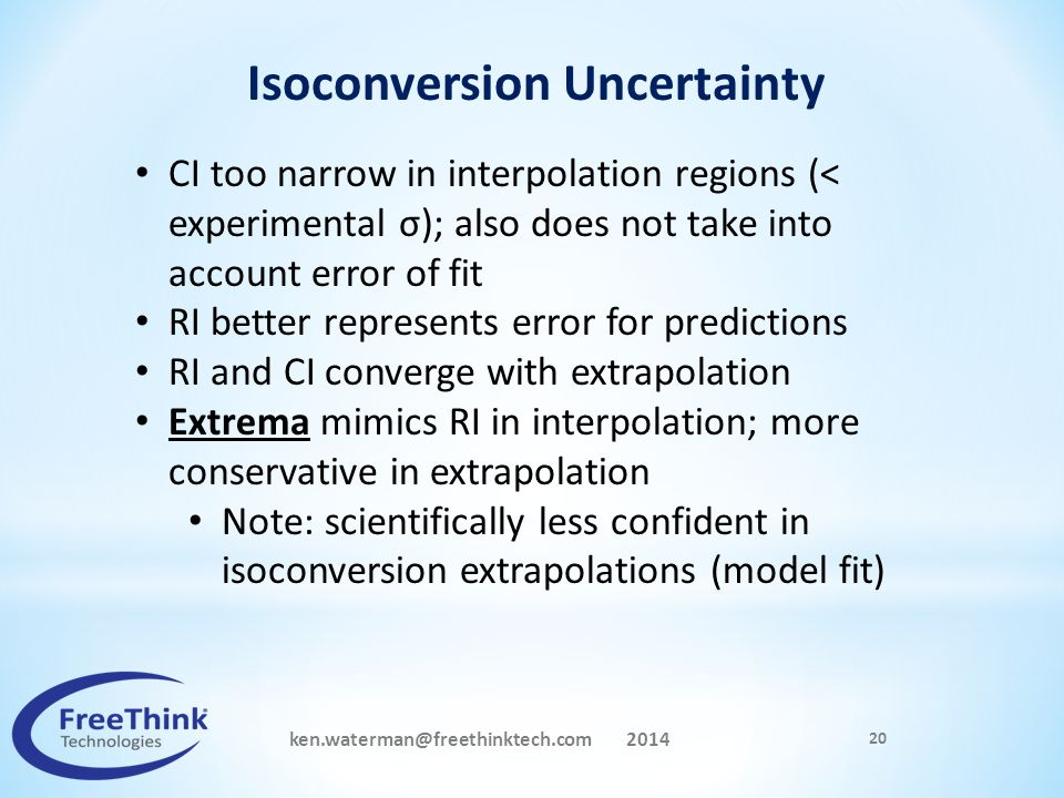 Isoconversion Uncertainty ken.waterman@freethinktech.com 2014