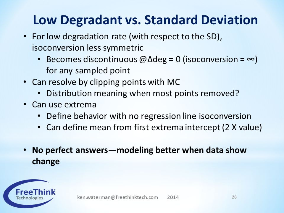 Low Degradant vs. Standard Deviation