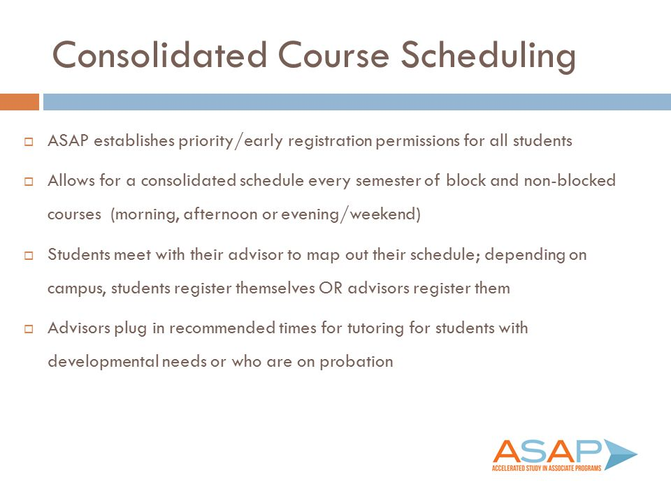 Consolidated Course Scheduling