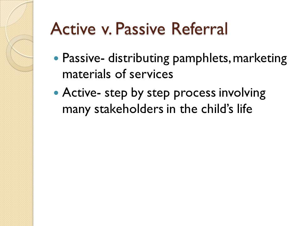 Active v. Passive Referral