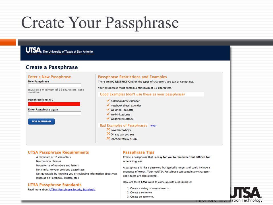 Create Your Passphrase