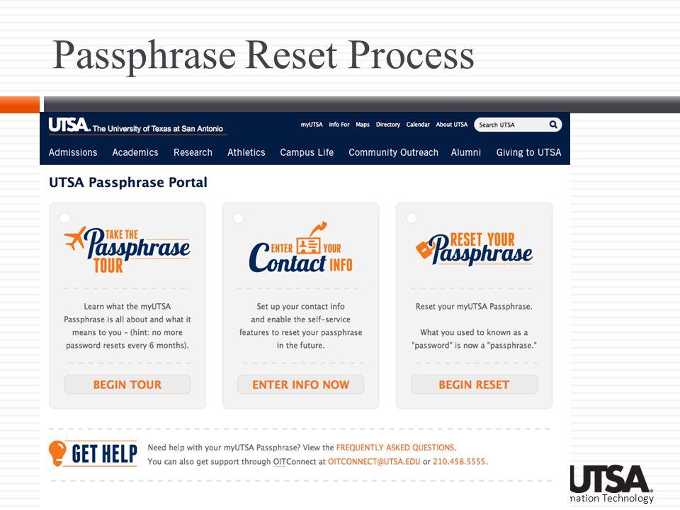 Passphrase Reset Process