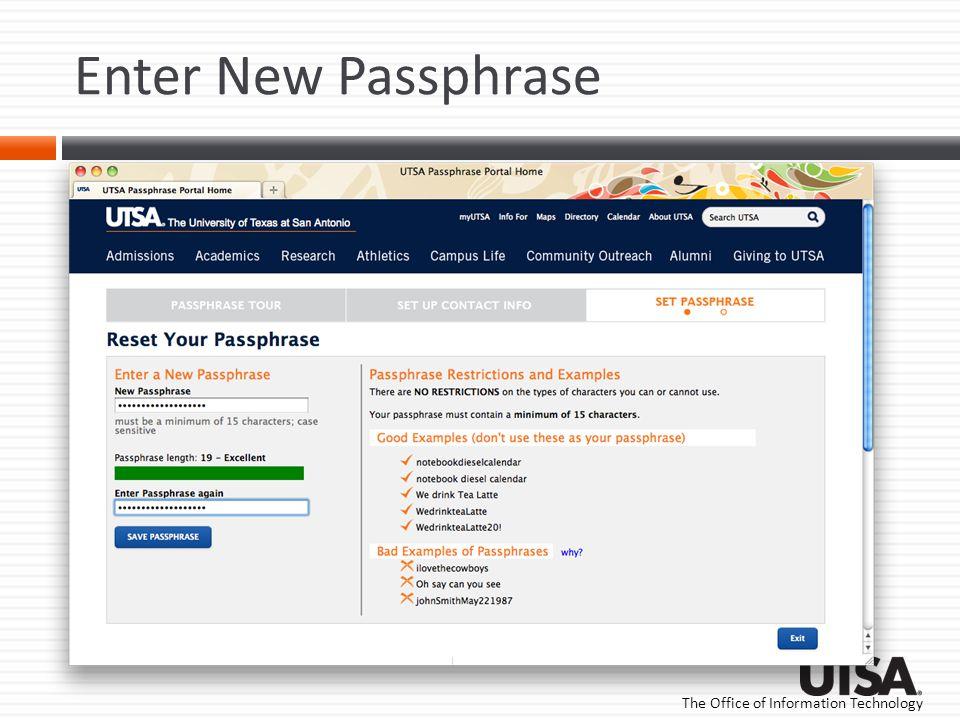 Enter New Passphrase