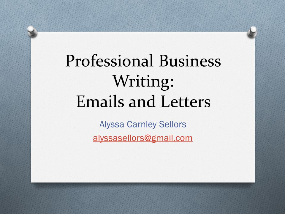 Professional tone in business writing