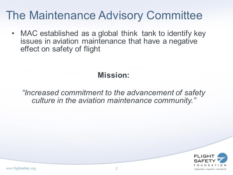 The Maintenance Advisory Committee
