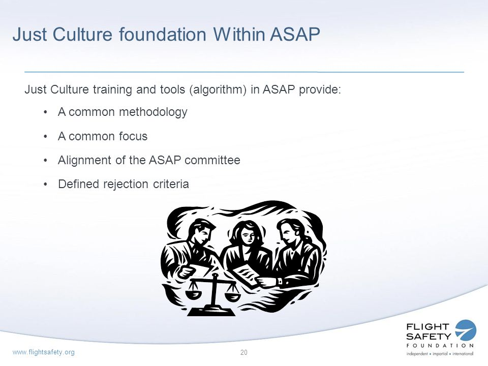 Just Culture foundation Within ASAP