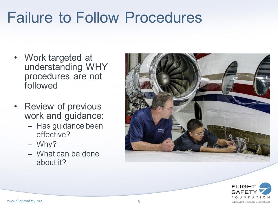 Failure to Follow Procedures