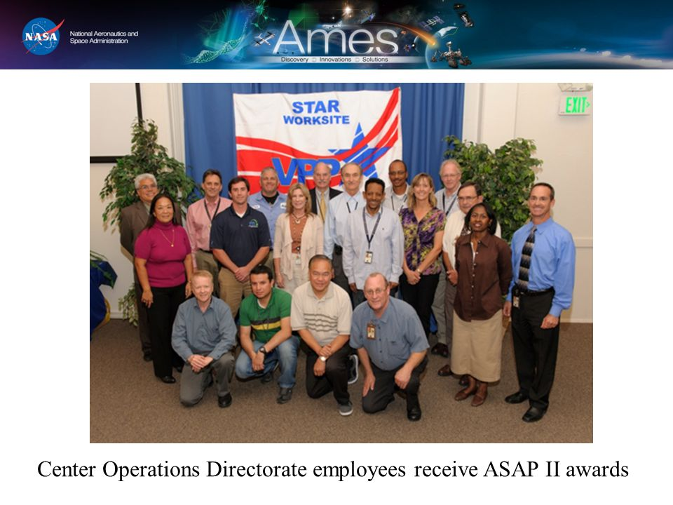 Center Operations Directorate employees receive ASAP II awards