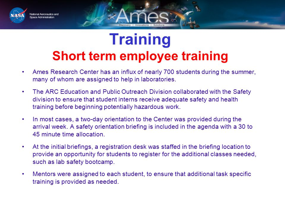 Training Short term employee training