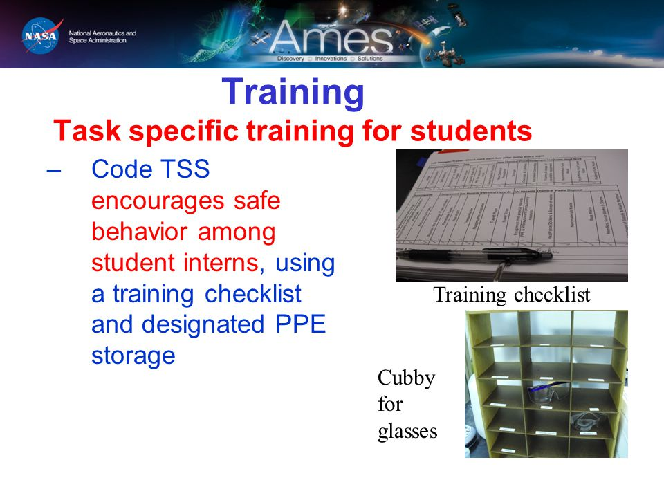 Training Task specific training for students