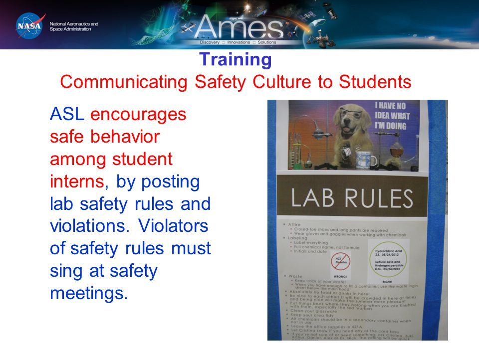 Training Communicating Safety Culture to Students