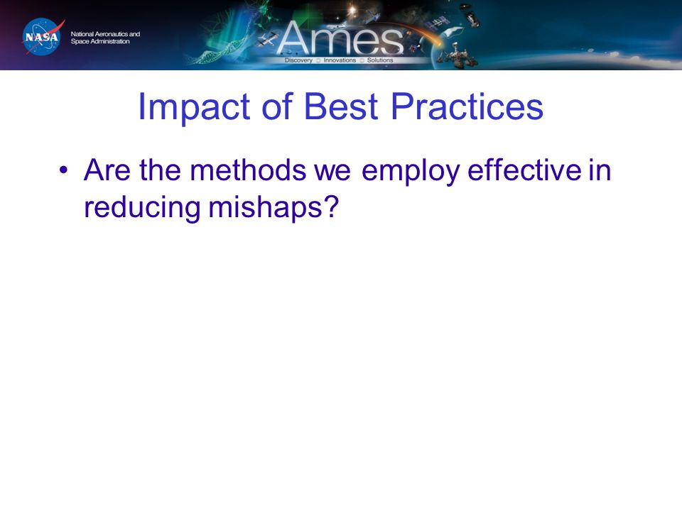 Impact of Best Practices